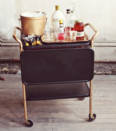 FancyFreeMe Black and Brass Cart
